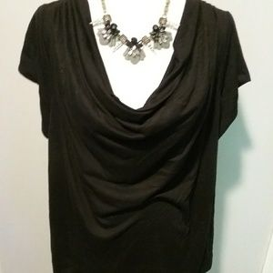 Lane Bryant plus size women's black blouse size 24